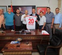 Yönetim Kurulu Üyelerimiz Pamukkale Belediye Başkanı Avni Örki'yi Ziyaret Ettiler