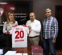 Kulüp Başkanımız Osman Duran, Merkezefendi Belediye Başkanı Şeniz Doğan'ı Ziyaret Etti